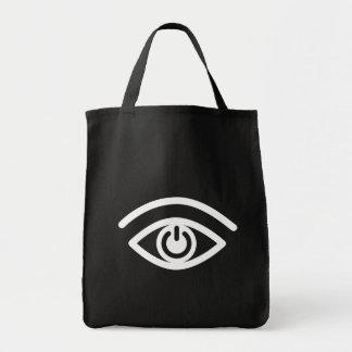 Contacto visual bolsa tela para la compra