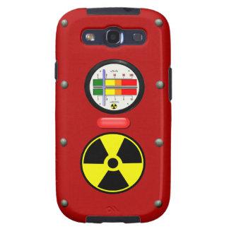Contador de Geiger de la radiación en la caja de Samsung Galaxy S3 Coberturas