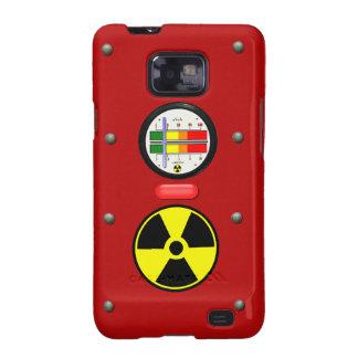 Contador de Geiger de la radiación en la caja de Samsung Galaxy S2 Carcasas