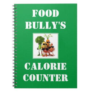 Contador de la caloría del matón de la comida libro de apuntes