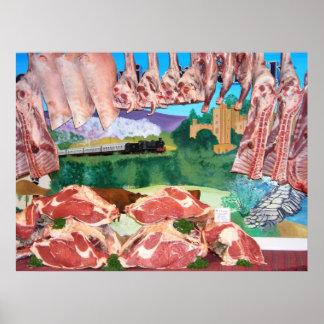 contador de la carnicería impresiones