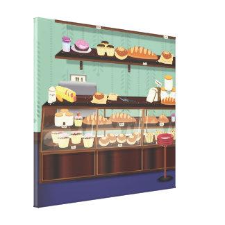 Contador de la tienda de la torta impresion de lienzo