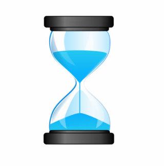Contador de tiempo de la arena del reloj de arena fotoescultura vertical