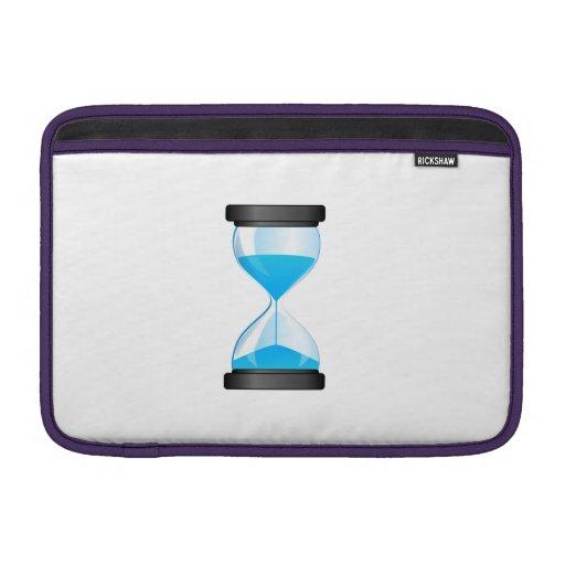 Contador de tiempo de la arena del reloj de arena fundas para macbook air