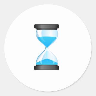 Contador de tiempo de la arena del reloj de arena etiquetas
