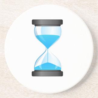 Contador de tiempo de la arena del reloj de arena posavaso para bebida