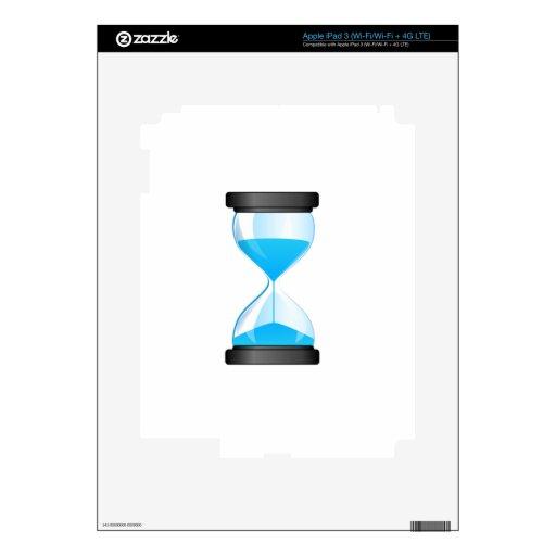 Contador de tiempo de la arena del reloj de arena iPad 3 skins