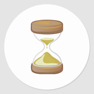 Contador de tiempo de la arena pegatinas redondas