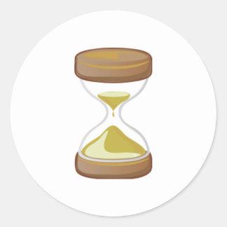 Contador de tiempo de la arena pegatina redonda