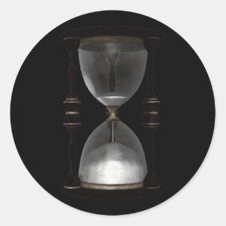 Contador de tiempo de semitono de la arena del pegatina redonda