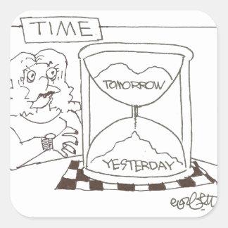 Contador de tiempo: 'Hoy… ayer… mañana Pegatina Cuadrada