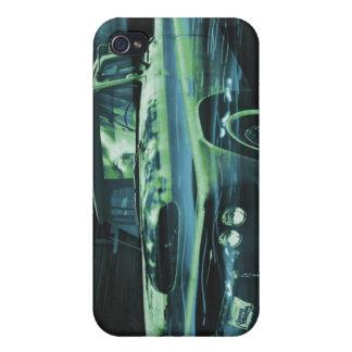Contador de tiempo viejo atómico más azul iPhone 4/4S carcasa
