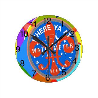 Contador del agua abstracto reloj redondo mediano