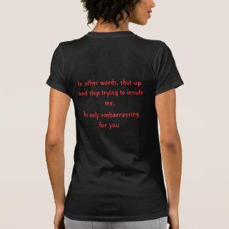 Contador e insulto camisetas