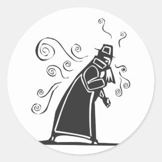 Contageous Flu Classic Round Sticker