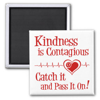 Contagious, red 2 inch square magnet