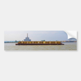 Container Barge Bumper Sticker