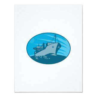 Container Cargo Freighter Ship Retro Personalized Announcements