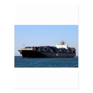 Container cargo ship 6 postcard