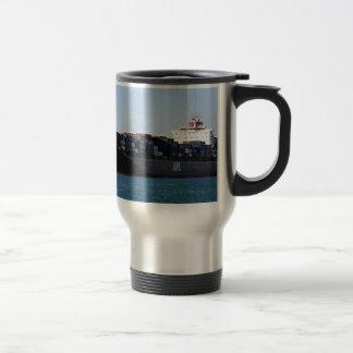 Container cargo ship 6 travel mug