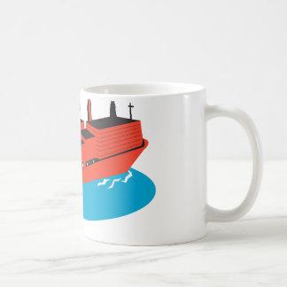 container cargo ship retro coffee mug