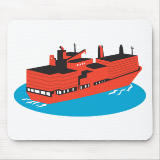 container cargo ship retro mouse pad