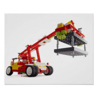Container Crane Truck Poster