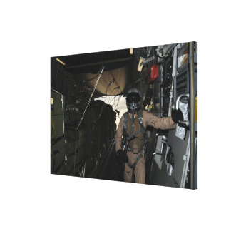 Container Delivery System bundles exit a C-17 Canvas Print