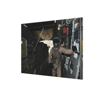 Container Delivery System bundles exit a C-17 Canvas Print