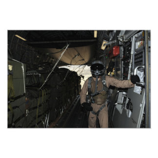 Container Delivery System bundles exit a C-17 Photographic Print