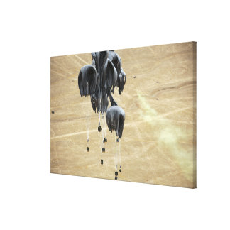 Container delivery system bundles parachute gallery wrap canvas