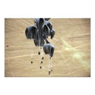 Container delivery system bundles parachute photograph
