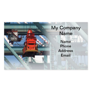 Container Port Loading Cranes Business Card Templates