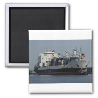 Container ship arriving at Tilbury docks, England Fridge Magnets