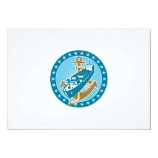 Container Ship Cargo Boat Anchor Personalized Announcement