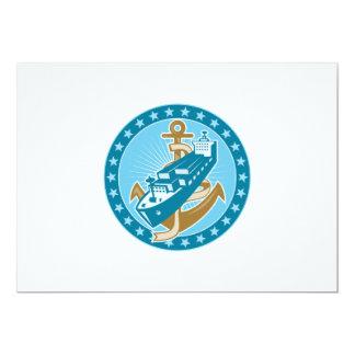 Container Ship Cargo Boat Anchor Custom Invitations