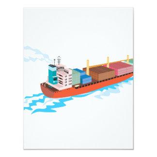 Container Ship Cargo Boat Retro Custom Announcements
