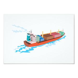 Container Ship Cargo Boat Retro Announcements