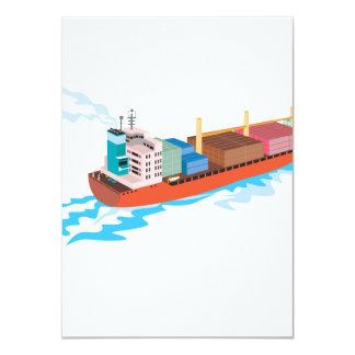 Container Ship Cargo Boat Retro Invites