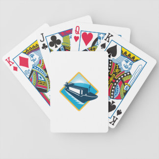 container ship diamond retro bicycle playing cards