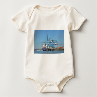 Container Ship Dock Baby Bodysuit