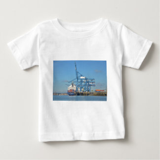Container Ship Dock Baby T-Shirt