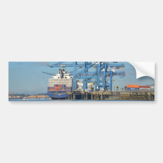 Container Ship Dock Bumper Sticker