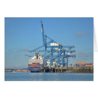 Container Ship Dock Card
