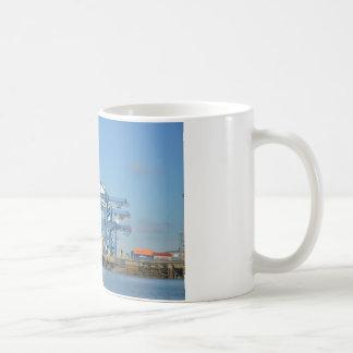 Container Ship Dock Coffee Mug