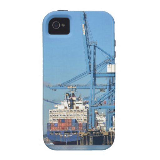 Container Ship Dock iPhone 4 Case