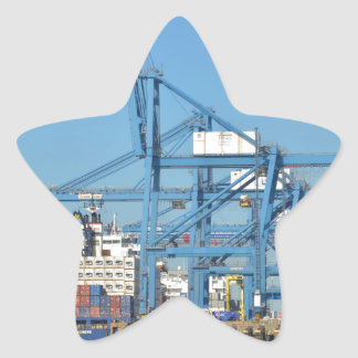 Container Ship Dock Star Sticker