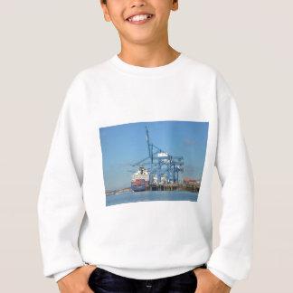 Container Ship Dock Sweatshirt