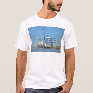 Container Ship Dock T-Shirt