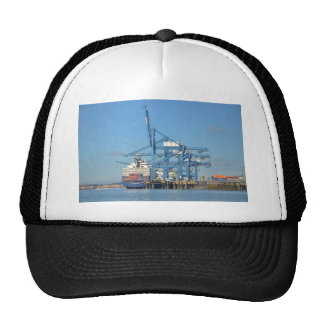 Container Ship Dock Trucker Hat